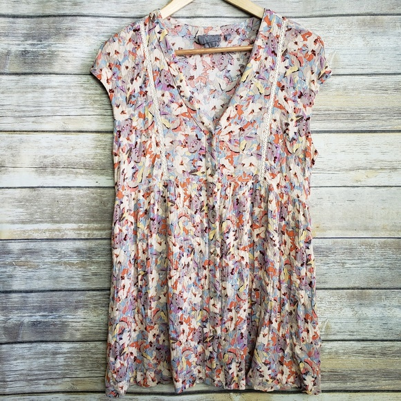 865325adcb7 Anthropologie Tops - Vanessa Virginia Anthropologie Floral Button Down